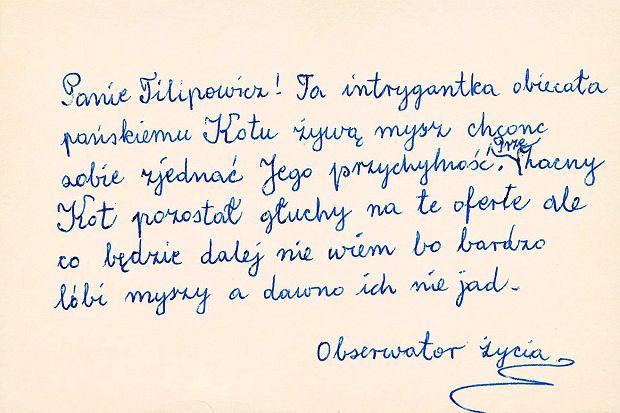 z20925937Q,Kartka-do-Kornela-Filipowicza-napisana-przez-Wisla.jpg